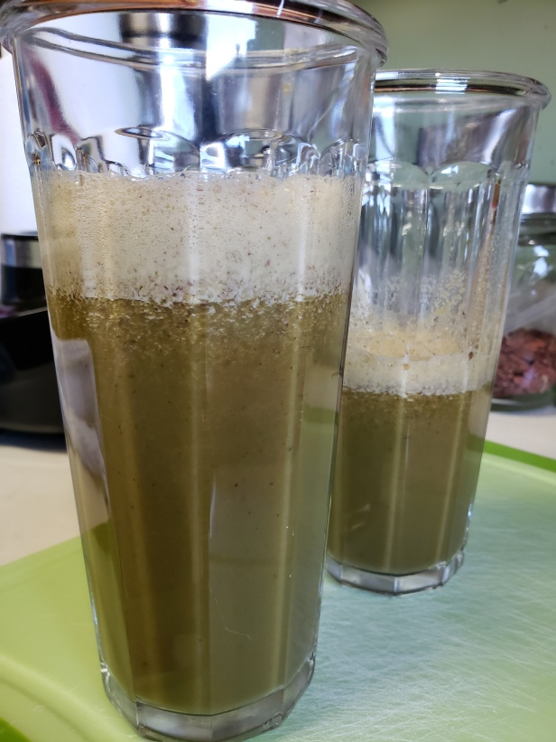 Green drink: salad in a glass