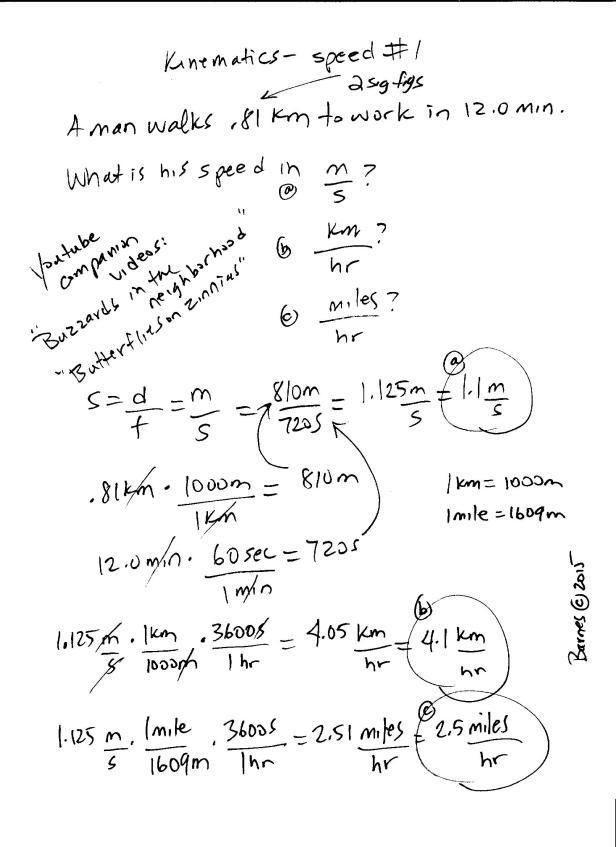 kinematics-speed problem 1 001