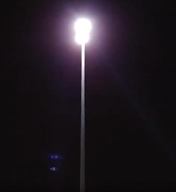 Lights on a pole on the Biloxi bridge