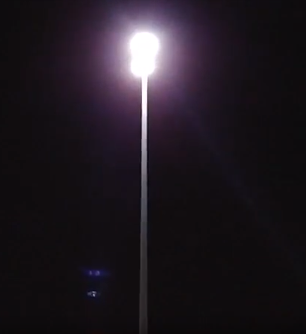 Lights on a pole on the Biloxi bridge