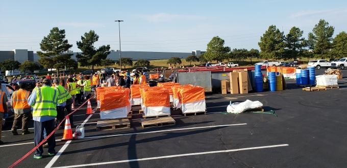 unload area